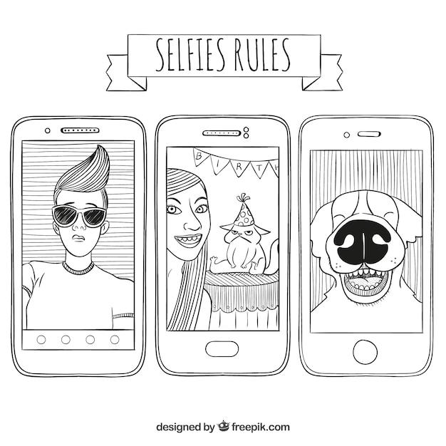 Selfies rules Free Vector