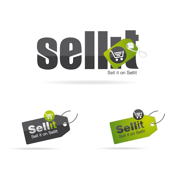 Sell it logo Premium Vector