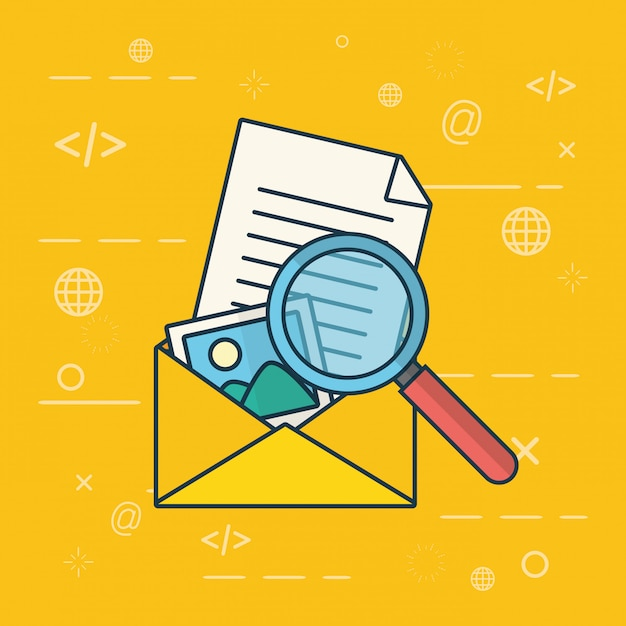 Send email concept Free Vector