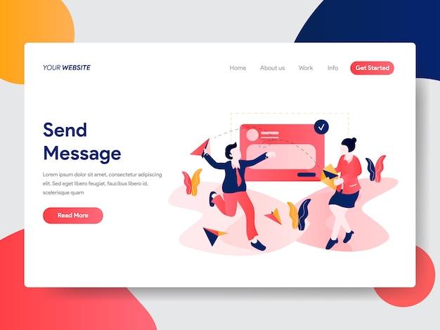 Sending message illustration for web page Premium Vector