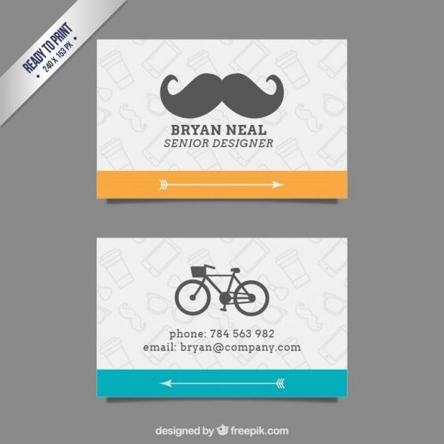 Senior designer card Free Vector