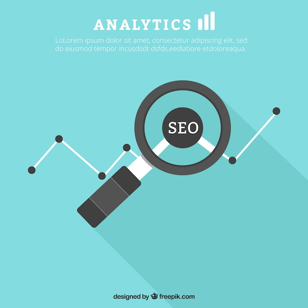 Seo analytics Free Vector