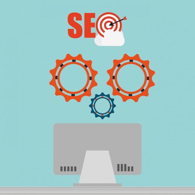 Seo концепция иллюстрации Бесплатные векторы