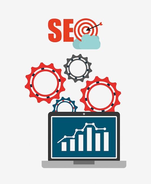 Seo concept illustration Free Vector