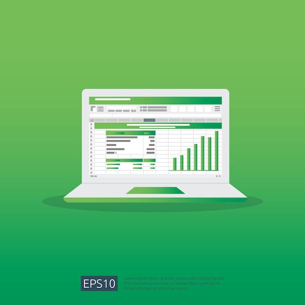 Seo data analytic Premium Vector