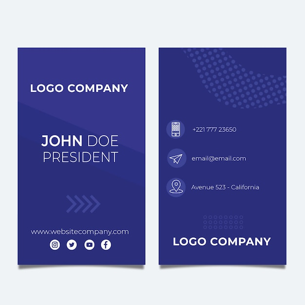 Seo double-sided businesscard v Premium Vector