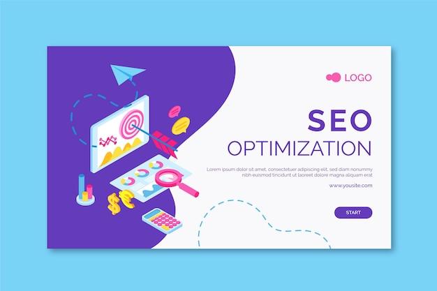 Seo horizontal banner Premium Vector