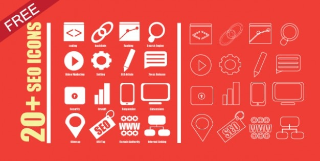 SEO icons for web design Vector | Free Download