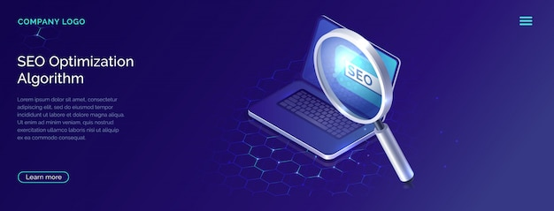 Seo, search engine optimization algorithm concept Free Vector