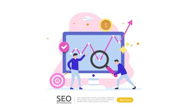 Seo search engine optimization concept Premium Vector