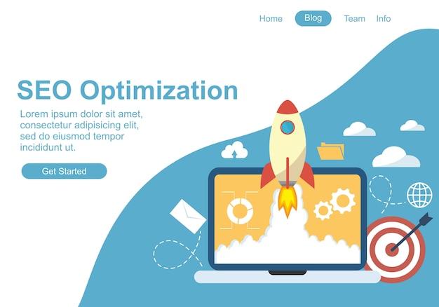 Веб дизайн для seo Premium векторы