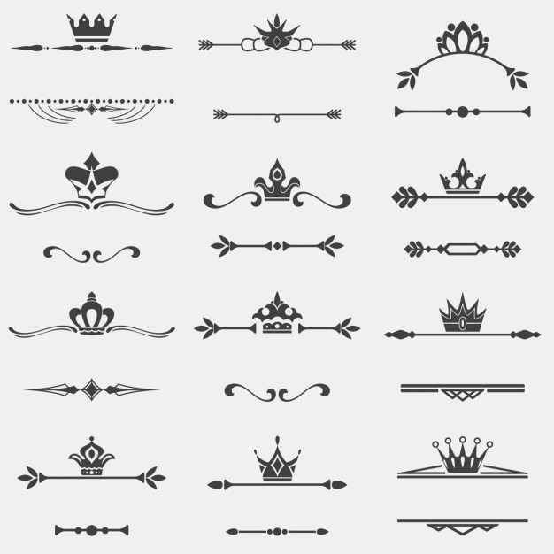 Separatings with crown collection Free Vector