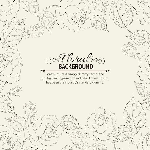 Sepia romantic frame. Free Vector
