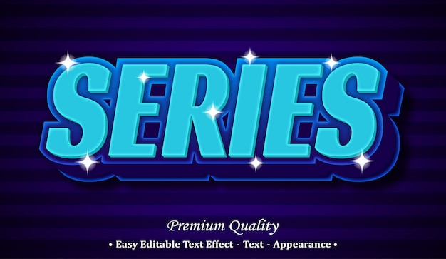 Series  editable text style effect Premium Vector