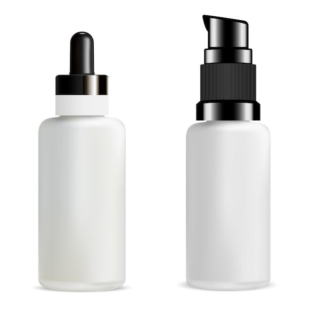 Serum dropper bottle Premium Vector