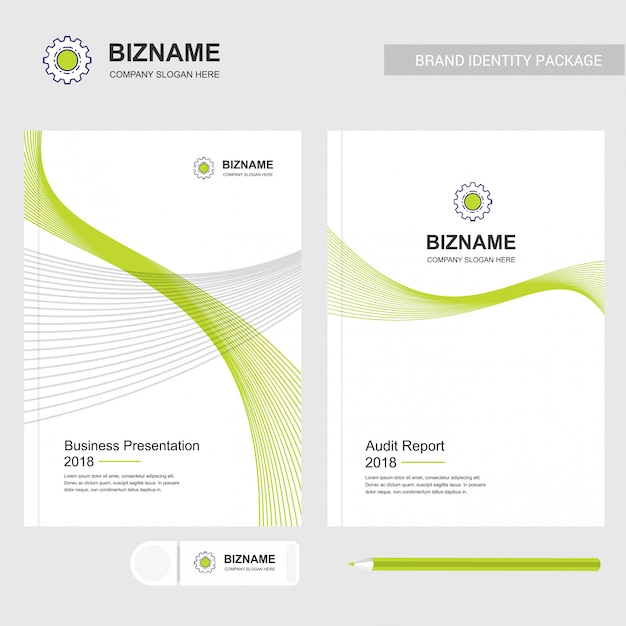 Services company logo and presentation template Free Vector