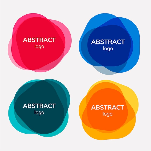 Set of abstract badge designs Free Vector