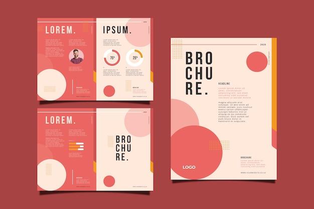 Set of abstract brochure concept Premium Vector