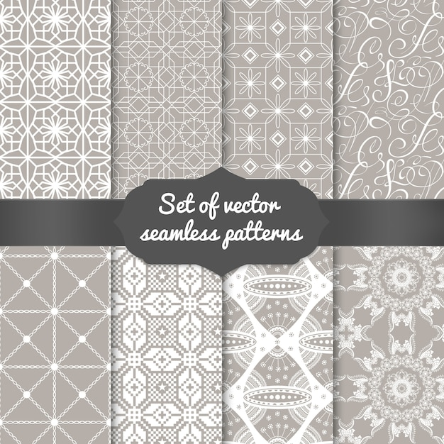 Set of abstract geometric pattern backgrounds. elegant backgrounds for cards and invitations. Free Vector