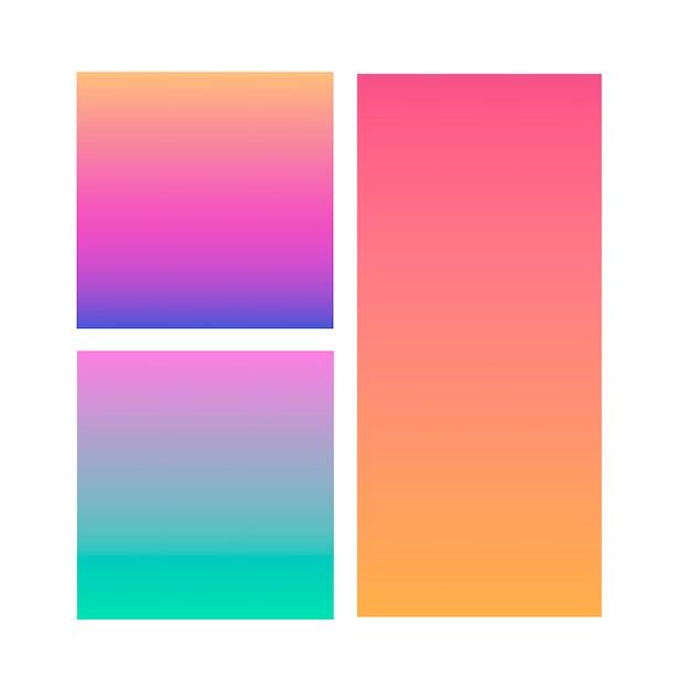 Set of abstract gradient backgrounds Premium Vector