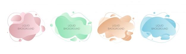 Set of  abstract modern graphic liquid elements Premium Vector