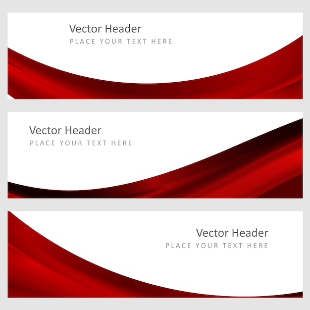 Set  abstract vector background Free Vector