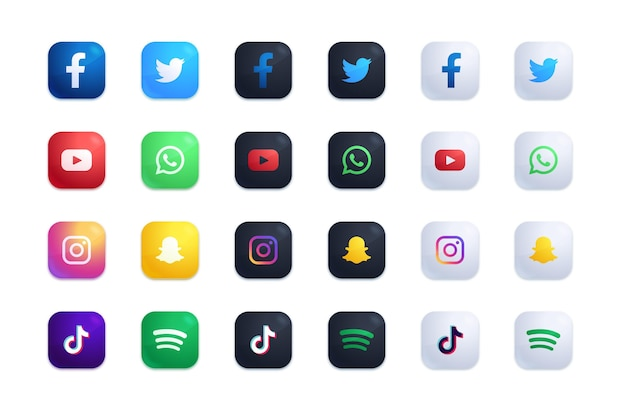 Set di icone delle applicazioni Vettore gratuito