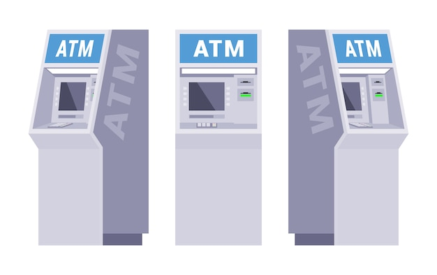 Set of the atms Premium Vector