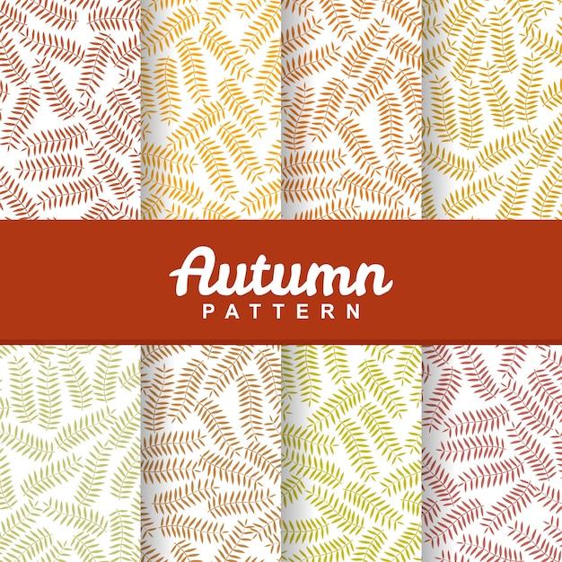 Set background of autumn grass seamless pattern Premium Vector