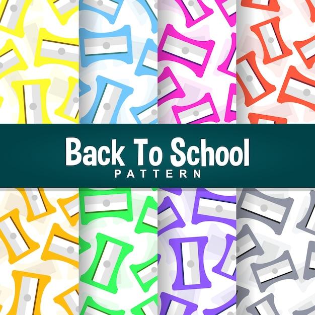 A set background of back to school sharpener pattern Premium Vector
