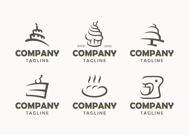 Set of bakery logos, labels, badges and design elements Premium Vector