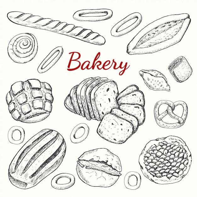 Set Of Bakery Vector Premium Download
