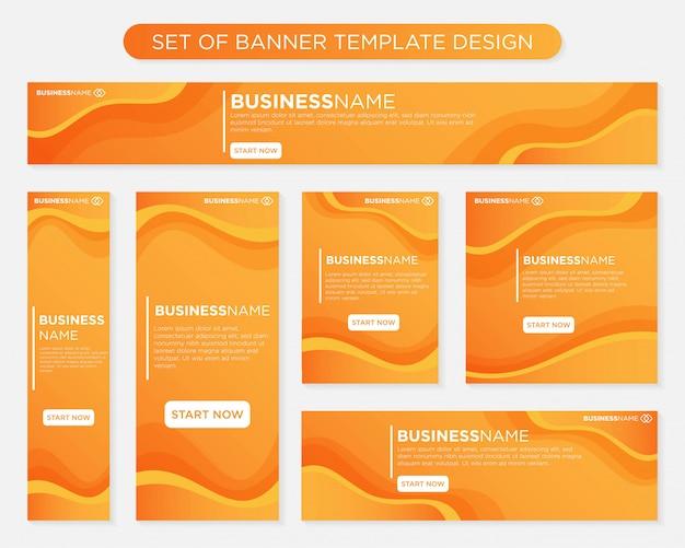 Set of banner template design Premium Vector