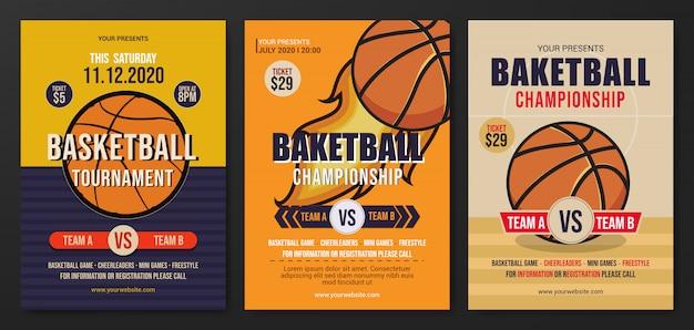 Free Basketball Tournament Flyer Template from image.freepik.com