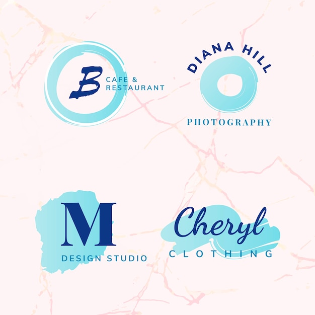 Set of beauty and fashion logo design vectors Free Vector