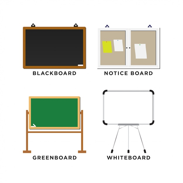 Set of blackboard Premium Vector