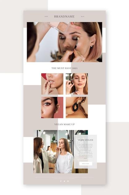Set di modello di posta elettronica di blogger con foto Vettore gratuito