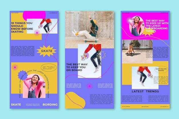 Set di modello di posta elettronica di blogger Vettore gratuito