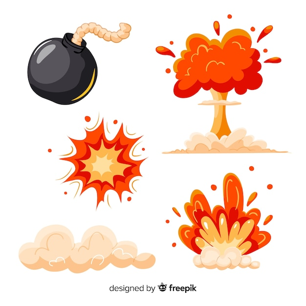 free vector set of bomb explosion effects free vector set of bomb explosion effects