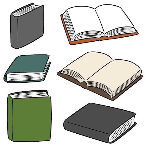 Set of book Premium Vector