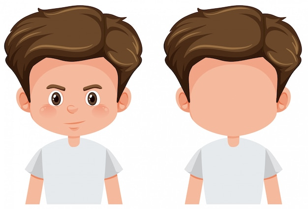 Set of boy character Free Vector