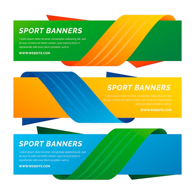 Set of brazil banners with ribbons Free Vector
