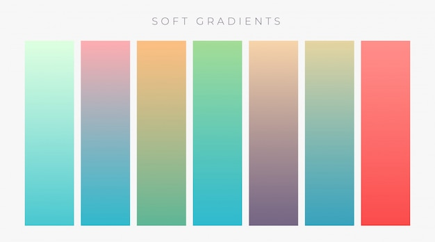 Set of bright colroful gradients set Free Vector
