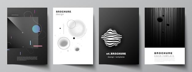 Set of brochures Premium Vector