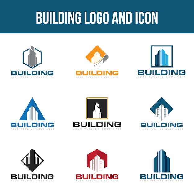Set building logo Premium Vector