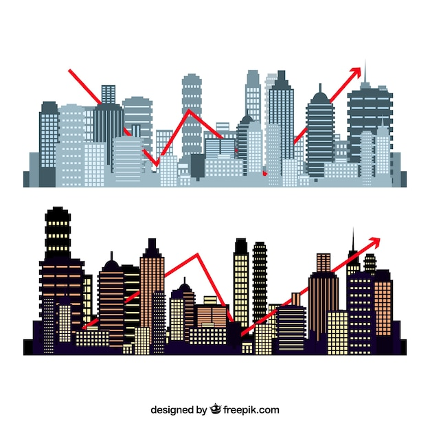 Set of buildings shapes Free Vector