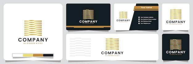 Set of business card Premium Vector