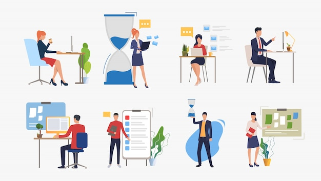 Set of business concept Free Vector
