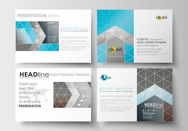 Set of business templates for presentation slides. Premium Vector