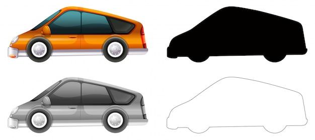 Set of car transportation Free Vector